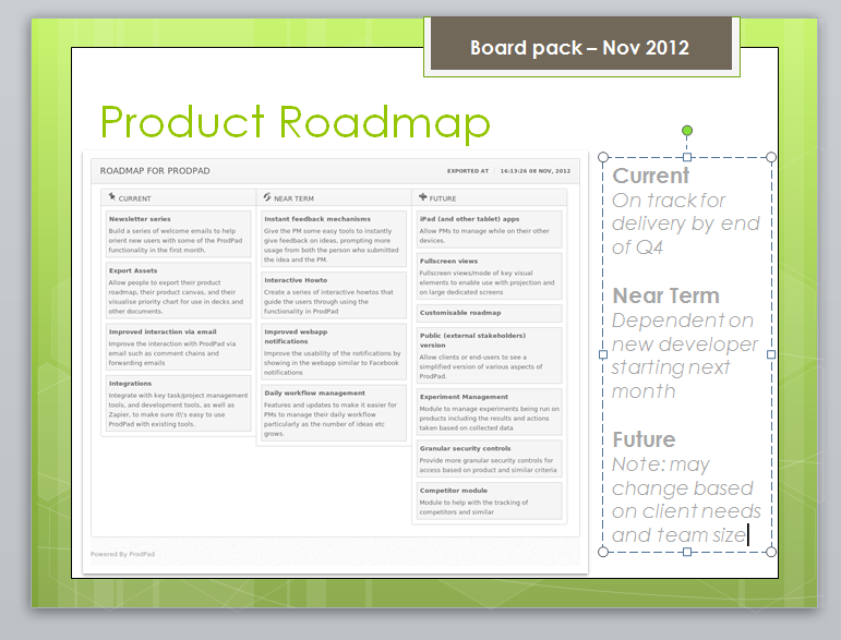 image no dates roadmap