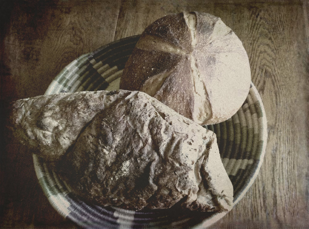 Rustic Autumn Harvest Sourdough and Country White Boule.
