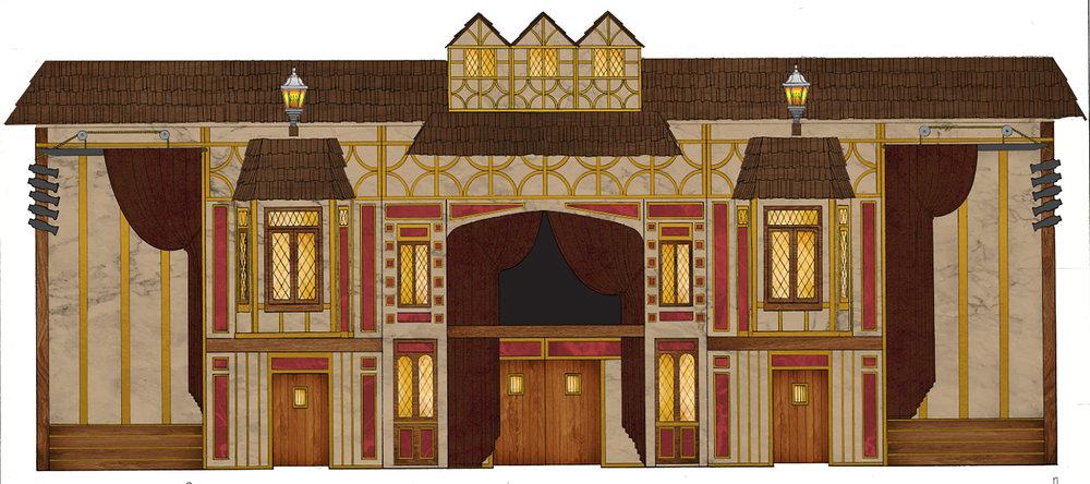 Globe Theater Interior Remodel - Rendering/Graphic Design