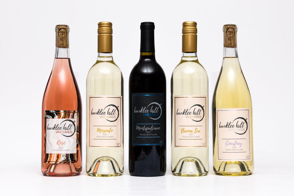 Logo and Label Design Burklee Hill Vineyards
