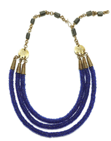 Mara Triple Tube Necklace | Soko | $80.00
