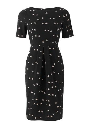 Black Eva Dove Dress | People Tree |was £80.00, now£56.00