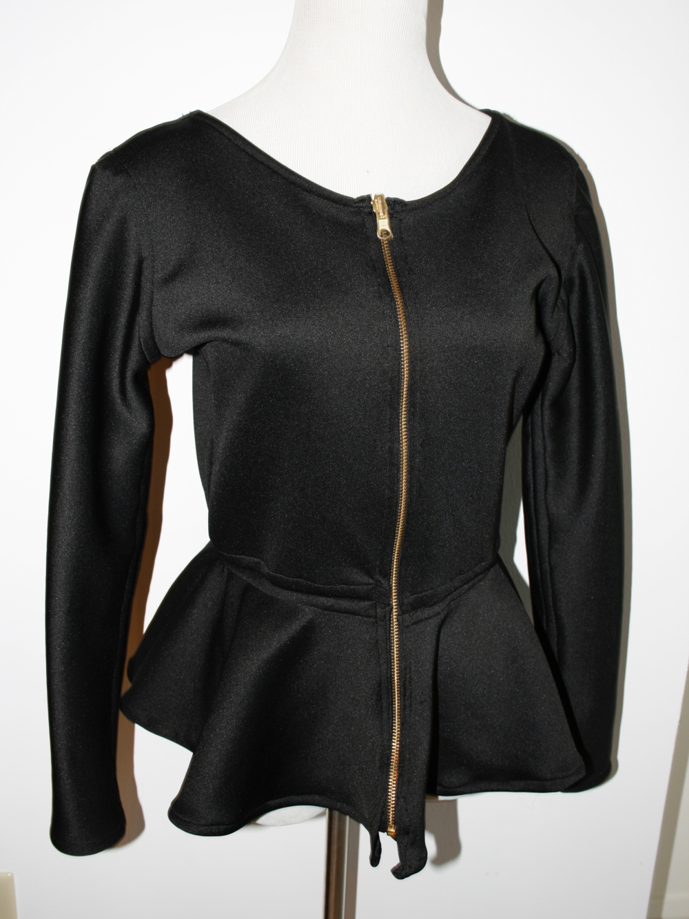 "Black ""Front"" with Full-length, Reversible Zipper"