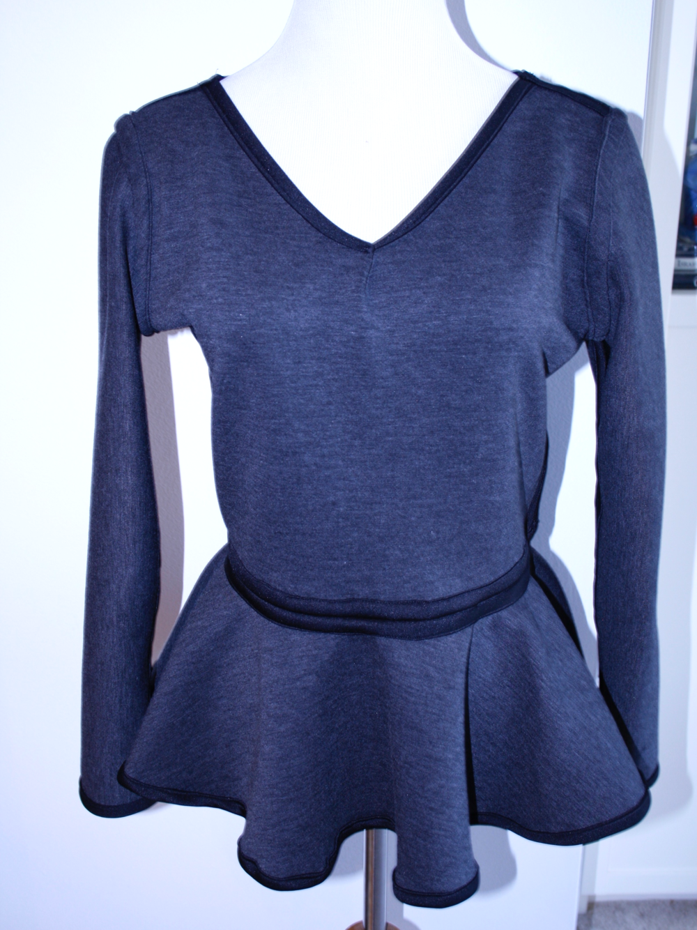 "Charcoal Gray ""Back"" with V-Neck"