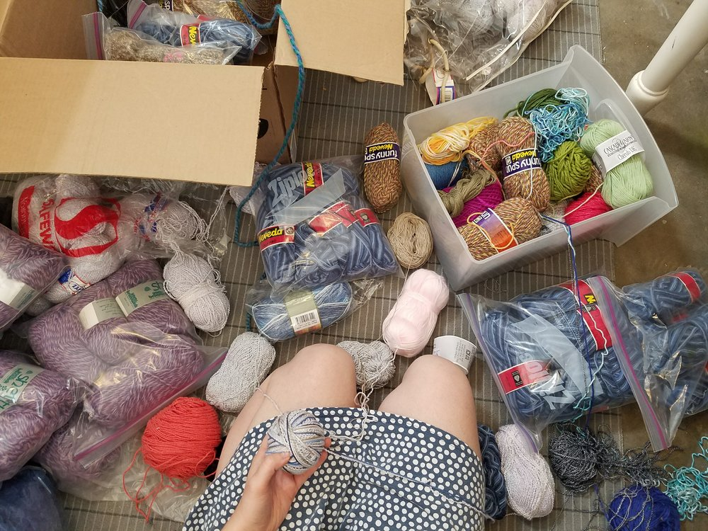 Pulling my palette from many different yarn.