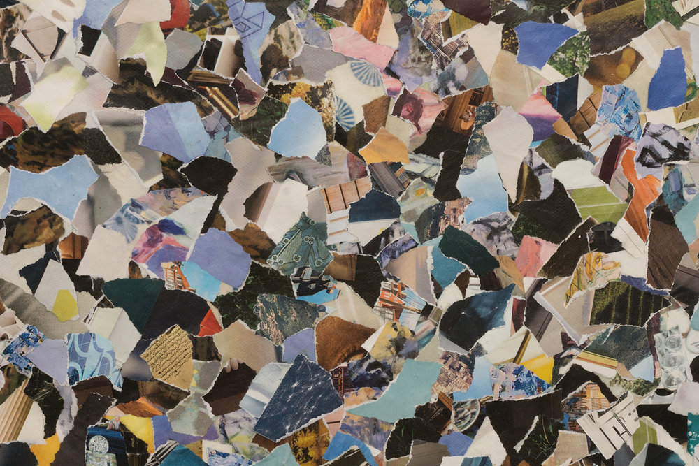 Detail of  Scheherazade , 2017. Collage on unstretched canvas.