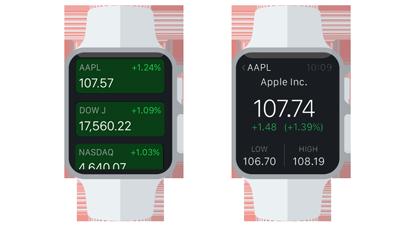 Listen- und Detail-Ansicht einer Apple Watch App