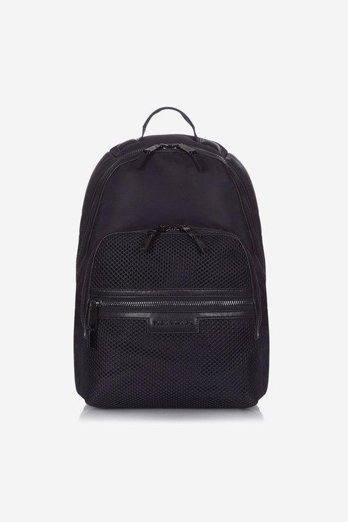 5e61814b9153 T+M x Selfridges Elwood Backpack Black Mesh — Tiba + Marl