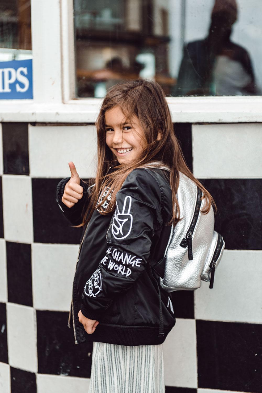 0f2e633273 Mini Elwood Kids Backpack Silver — Tiba + Marl