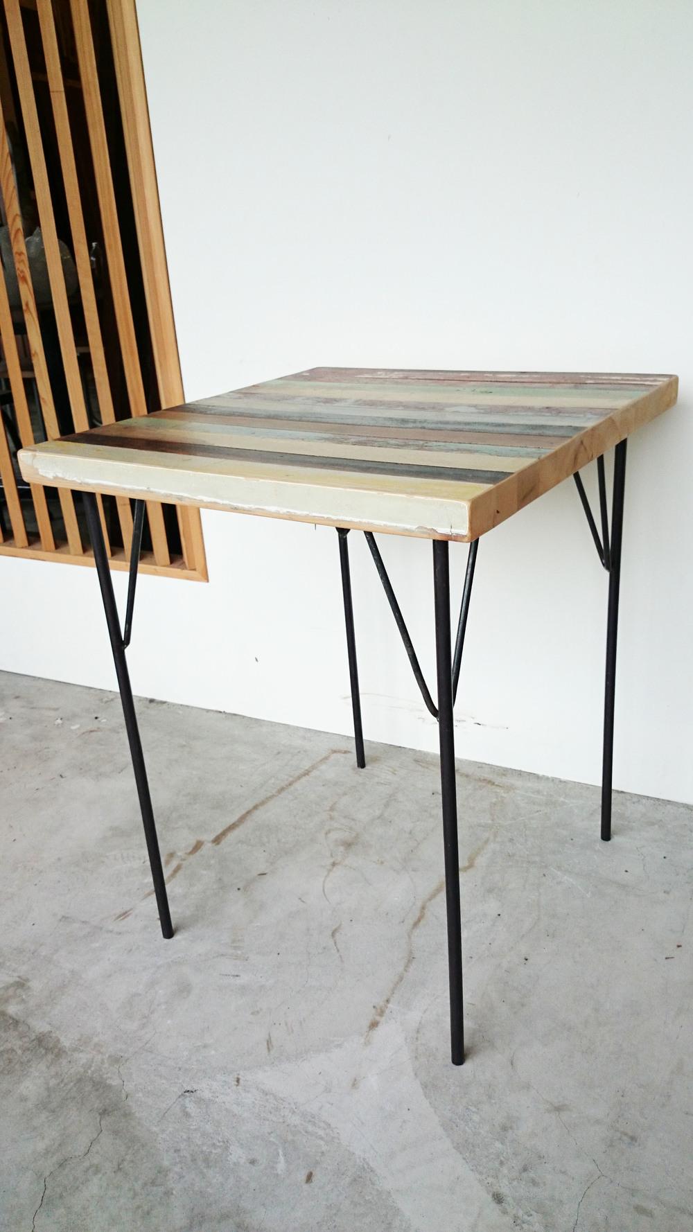 TS-I-04 Coffee table 實心黑鐵 x 台灣檜木(此腳停產)  NT 10,300 (未稅)