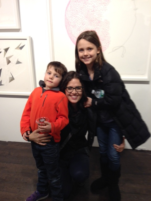 with a couple of adorable art lovers