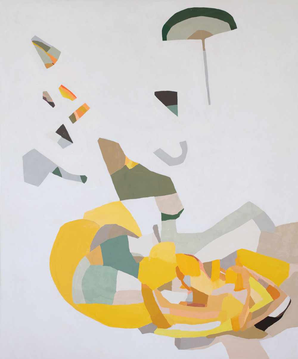Parachute, 2018, 60x50 inches, oil on canvas