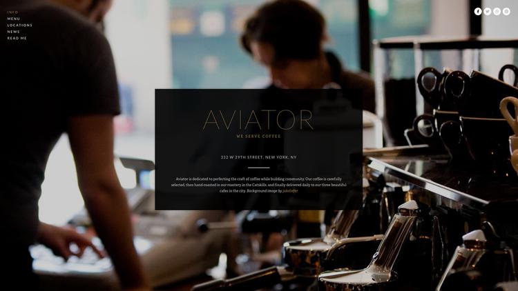 Breng je bedrijf op nieuwe hoogten met Aviator. Gebruik het content overlay system van deze template om de vitale informatie van je bedrijf daar te plaatsen waar niemand het kan missen, en personaliseer dan met slechts een paar klikken het prachtige full screen achtergrond beeld. Het is gemakkelijk Aviator aan te passen, het is onmogelijk het te vergeten.