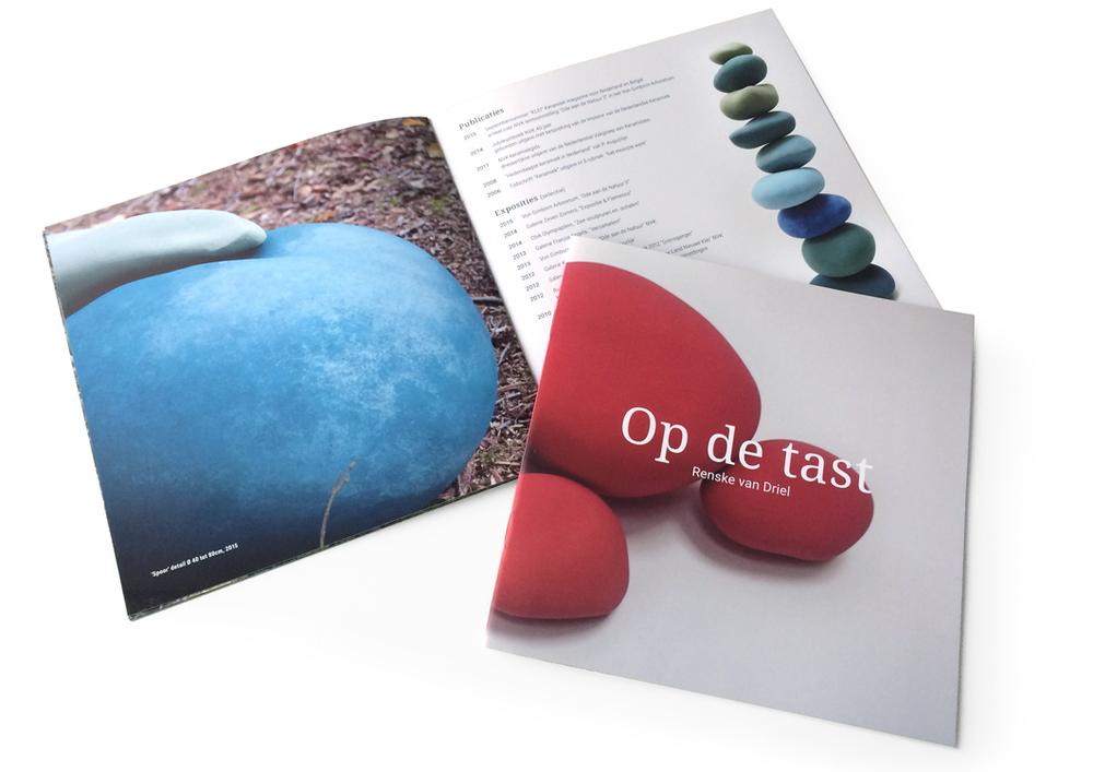 Beeldend kunstenares Renske van Driel laat haar laatste werk zien in 'Op de tast', formaat 21x21cm