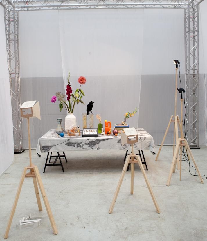 """""""Het groeien der dingen"""" heet deze installatie van Studio NSybrandy. Perspectief en positie bepalen bepalen je beleving van dit stilleven,"""