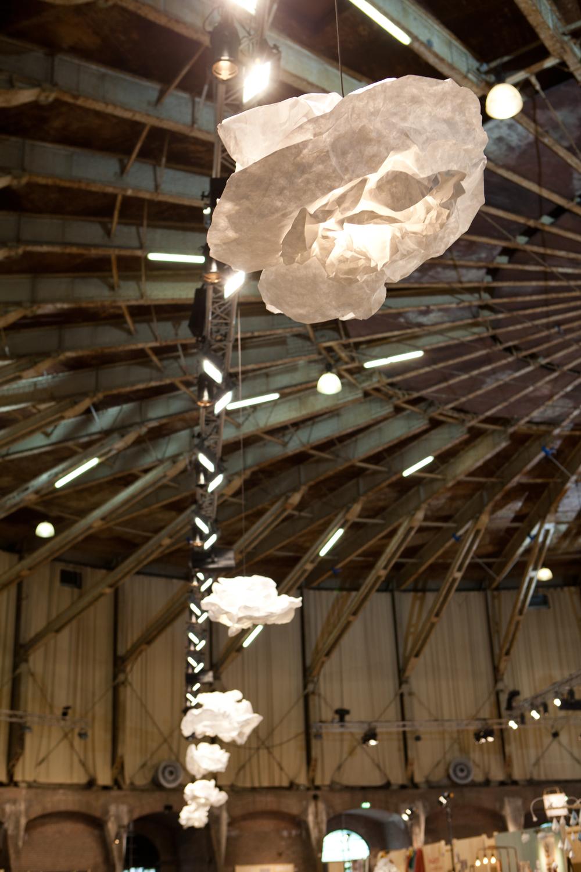 De PROPlampen van Margje Teeuwen hangen in de gashouder. Met dank aan 0031 design.