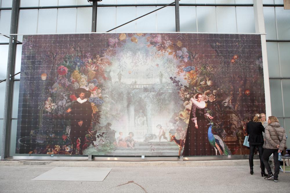 Een prachtig werk vanKatarina Stupavskawerd XXL uitgevoerd. Bijna 40 m2 oppervlak, een werk vol verrassingen. Met dank aanIXXI.