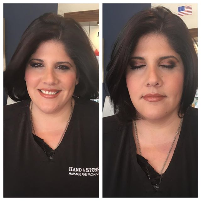 Gave my Cuz/co-worker a Kardashian inspired makeover using @motivescosmetics foundation @inglot_usa eyeshadows @avoncosmetics blush @makeupforeverofficial under-eye concealer and a mixture of different lipsticks to create the perfect shade 💄#esthetician #makeupartist #makeup #cosmetics #motd #skincare #beauty #beautyblogger #instamakeup #instabeauty #kardashian #makeover #inspiration #glam #smokyeye