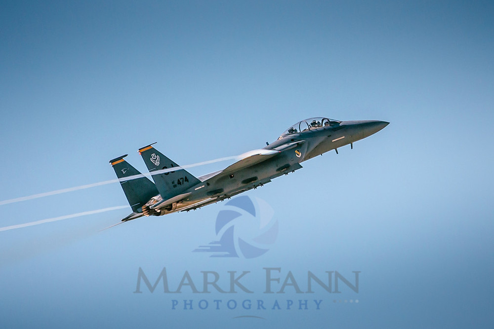 A F-15E Strike Eagle Pulling out of a Loop Photo