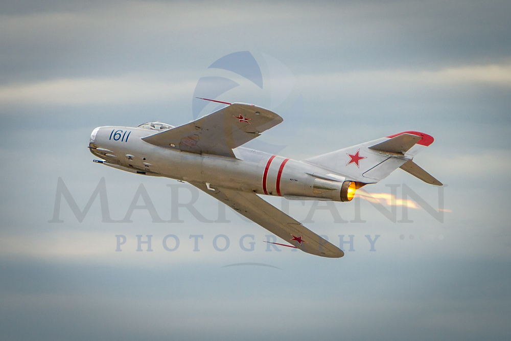 MIG-17 Doing a Low Pass with Afterburner