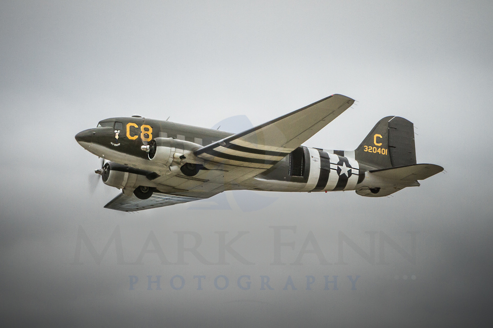 C-47 Transport Preparing for A Parachute Drop