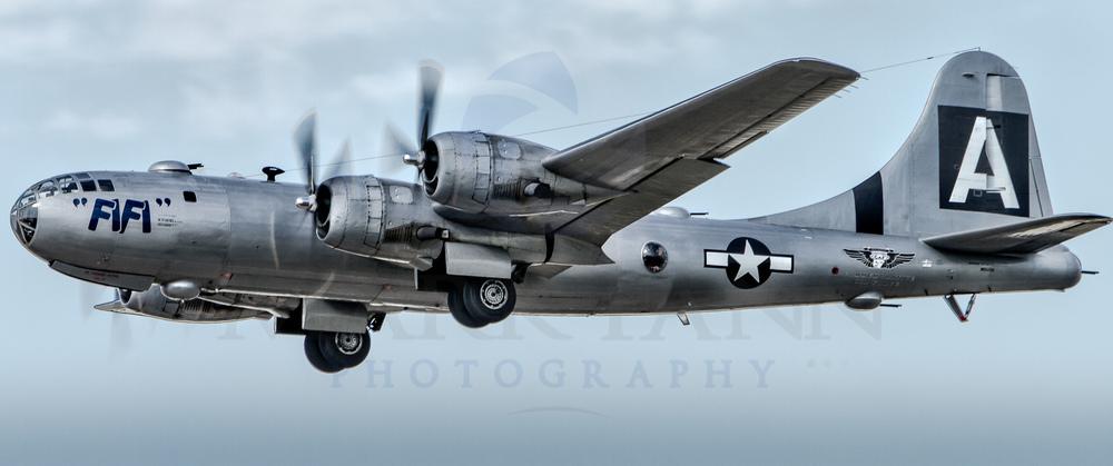 """B-29 """"FIFI"""" Taking Off"""