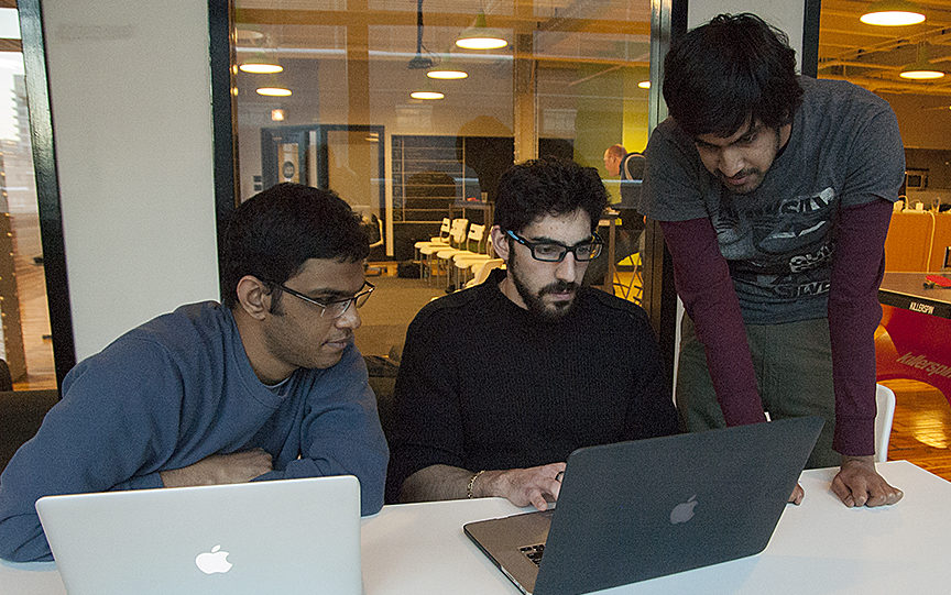 By the first afternoon, Makers are building an app together.