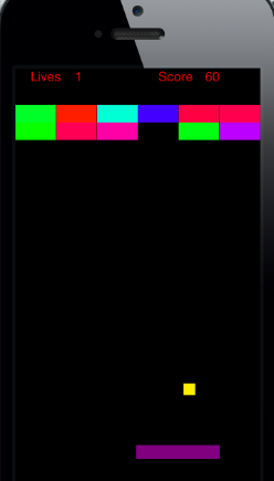 Kagan Riedel's solution for the app Breakout used random colors to give the game a more dynamic interface.