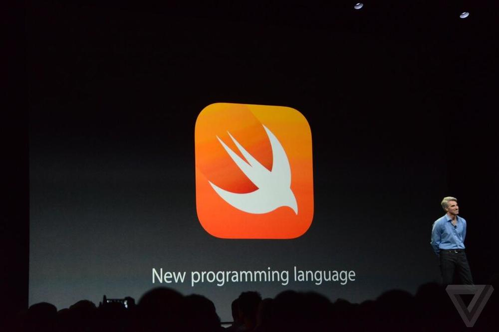 As seen on the Twitter feed of Verge.com, Apple's new mobile programming language, Swift, will be rolling out with iOS 8 in the fall.