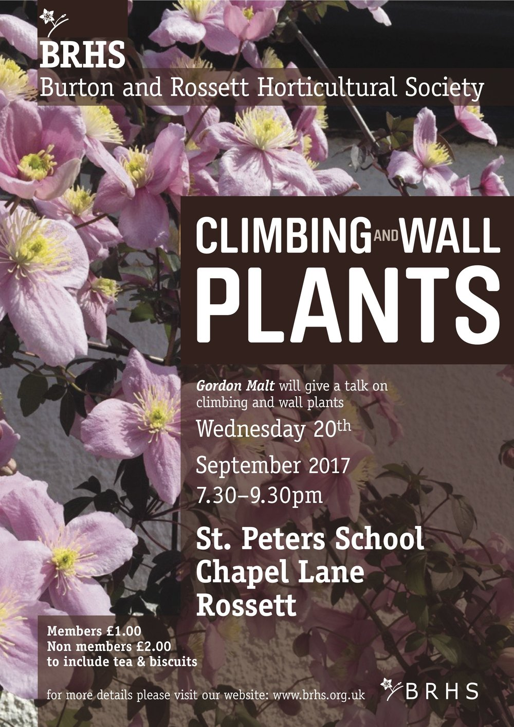 Climbing and Wall Plants Poster