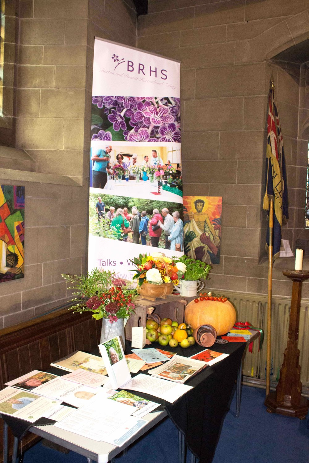 BRHS display in the Church