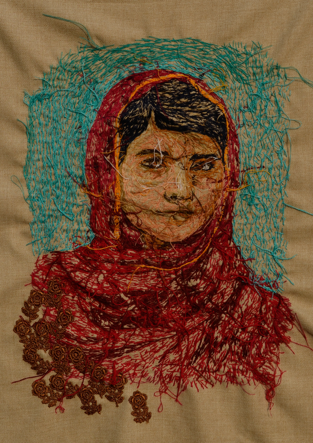 Untitled, 2014 Embroidery on Fabric 20 x 16 in.