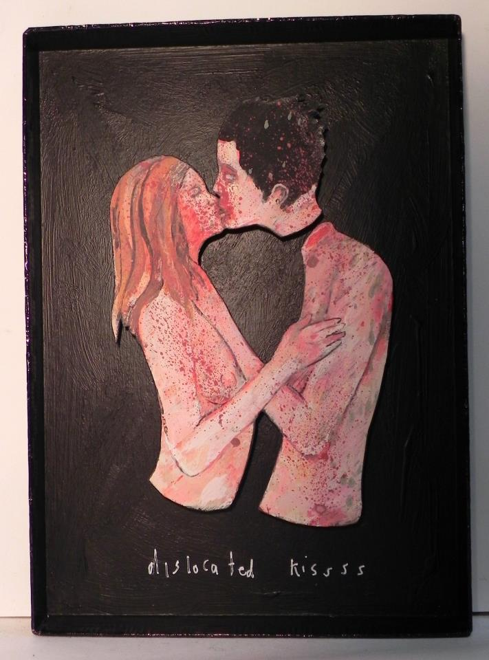Dislocated Kissss, 2012 [private collection LA, CA] Mixed Media 6 1/2 x 9 1/8 in.