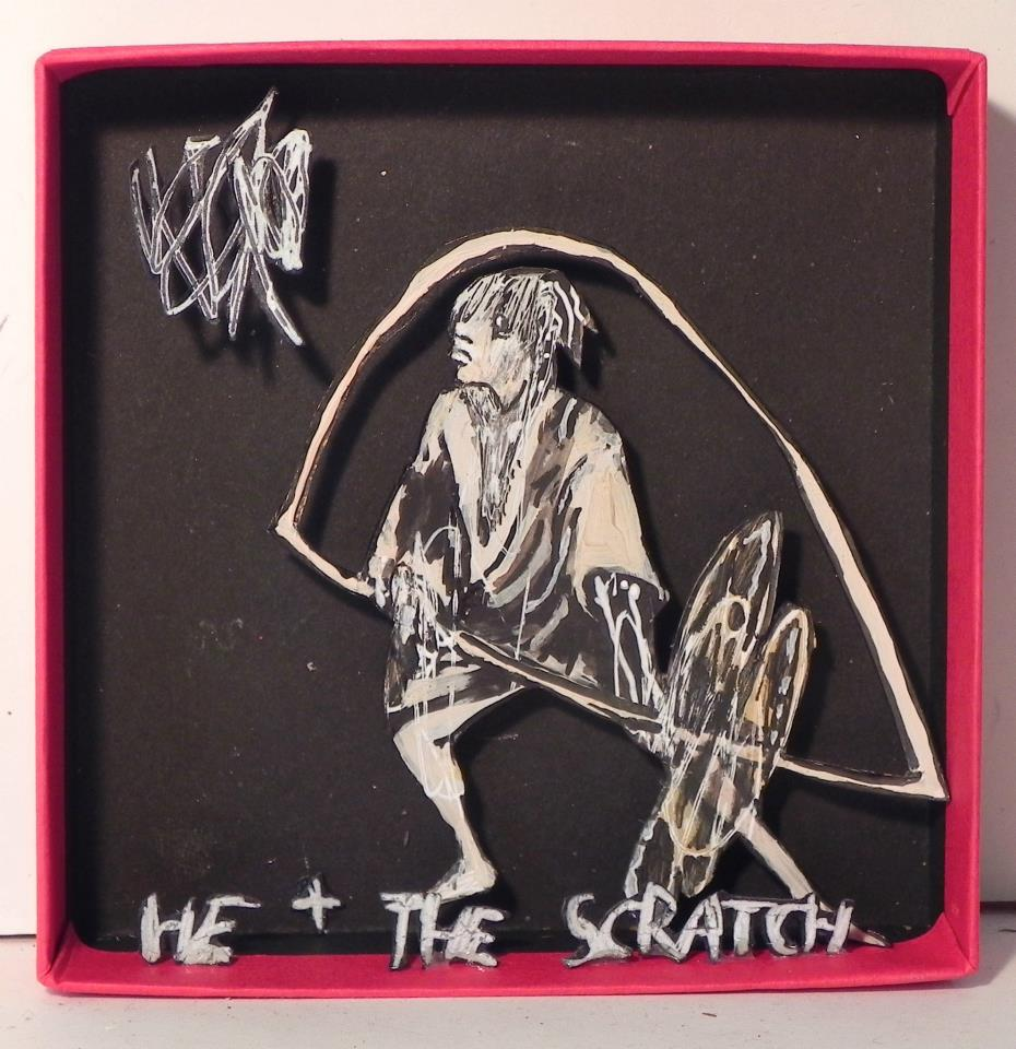 He & The Scratch, 2012 Mixed Media 3 7/8 x 3 7/8 in.