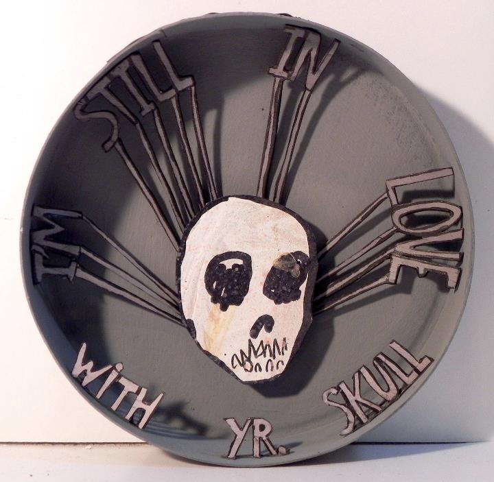 I'm Still In Love With Your Skull, 2011 Mixed Media 4 1/4 in. (diameter)