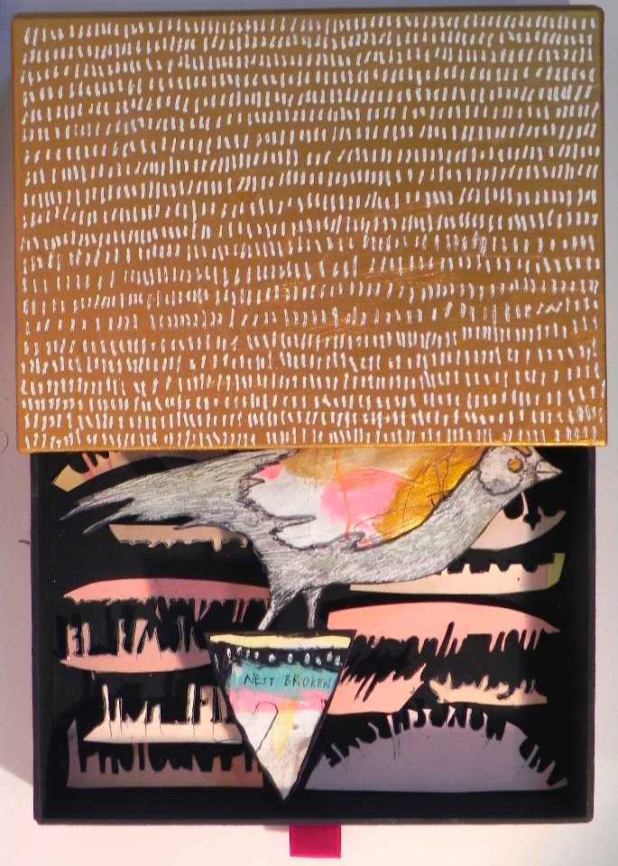 Nest Broken, 2011 Mixed Media 6 7/8 x 5 3/8 in.