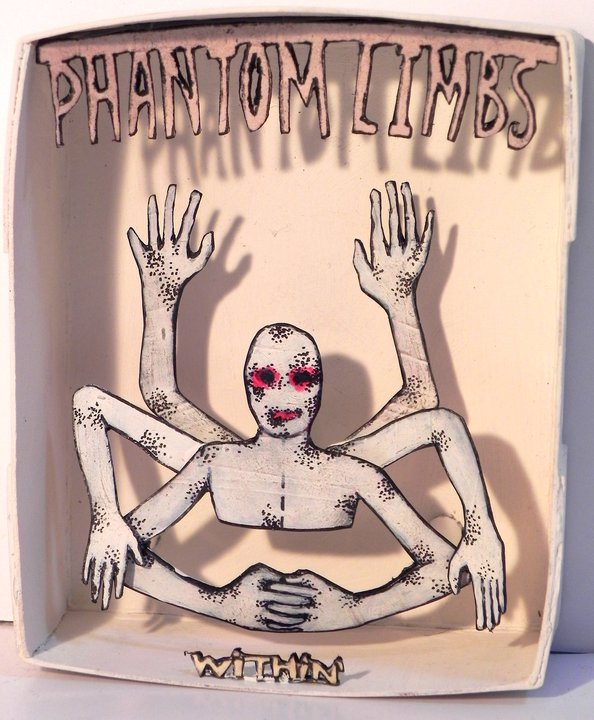 Phantom Limbs Within, 2011 Mixed Media 3 1/4 x 3 5/8 in