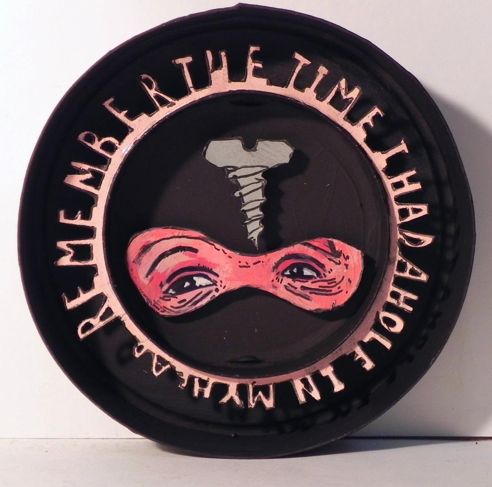 Remember The Time I Had A Hole In My Head, 2012 Mixed Media 4 3/8 in. (diameter)