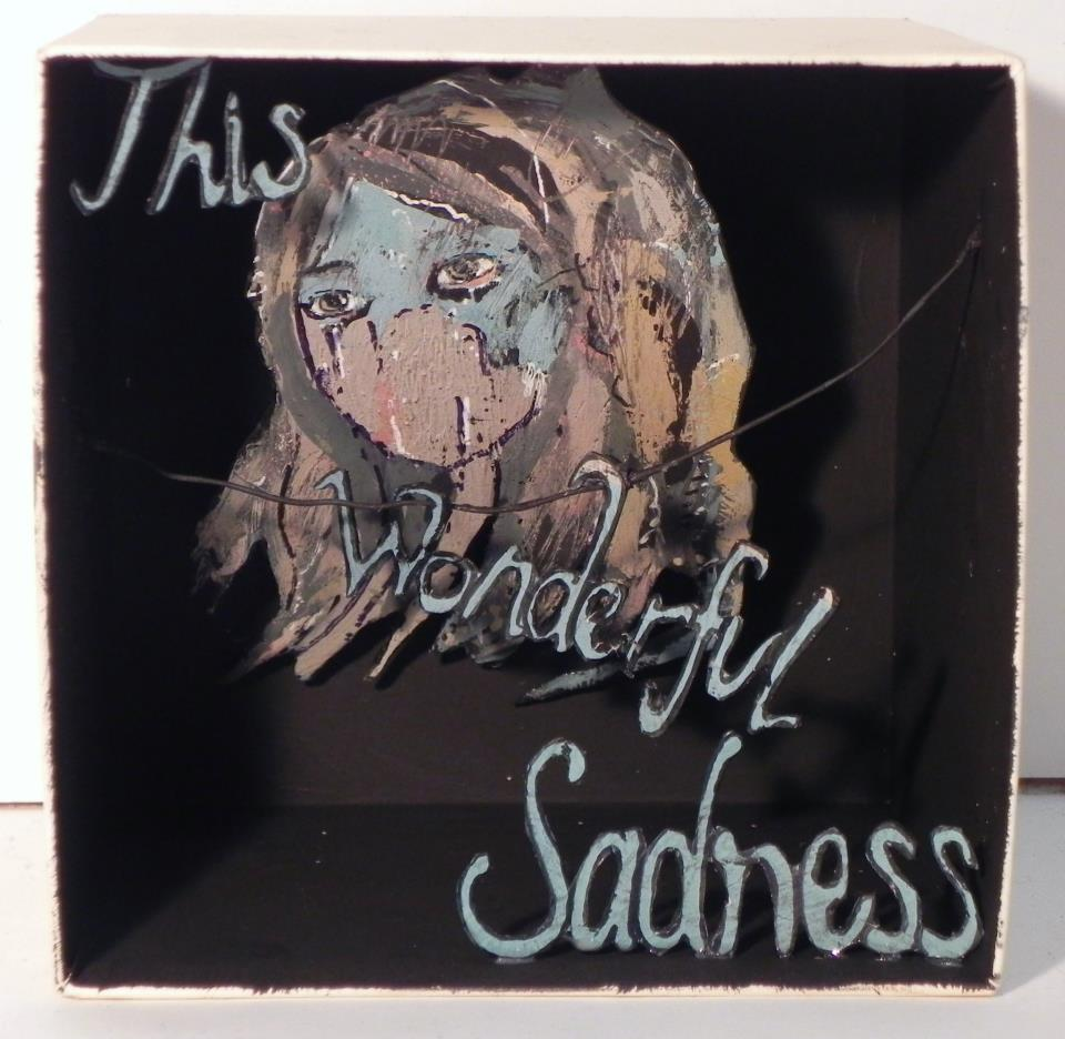 This Wonderful Sadness  , 2012   [private collection NY  , NY]   Mixed Media  4 1/2 x 4 3/8 in