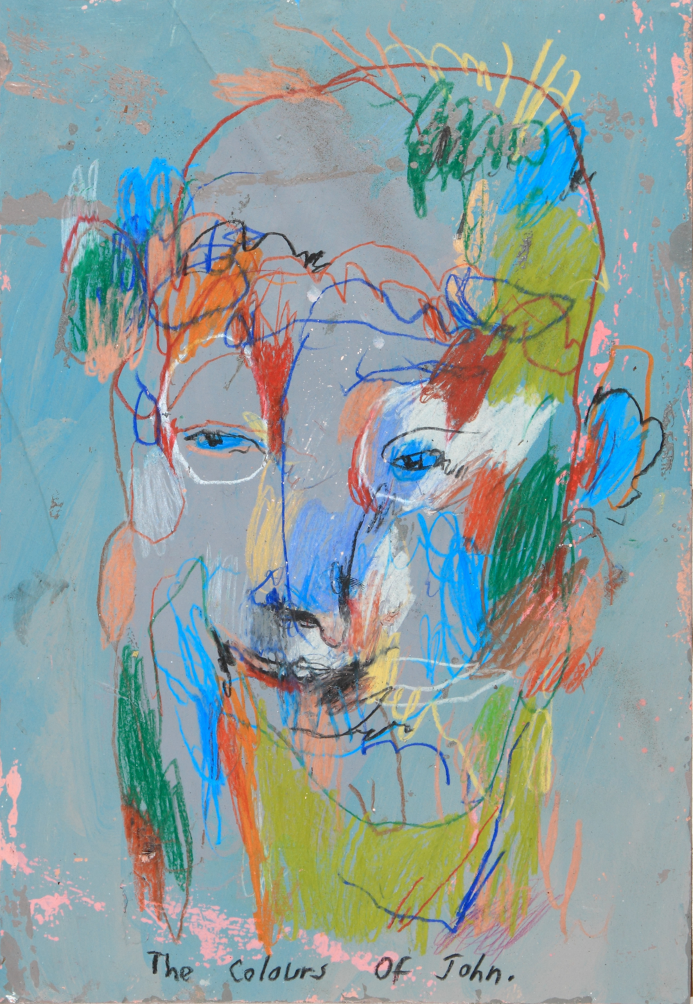 The Colours Of John, 2014 [private collection Queens, NY] Acrylic on paper 11 1/2 x 8 1/4 in.