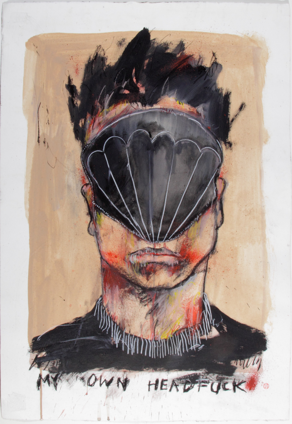 My Own Head Fuck, 2014 Acrylic on paper 27 1/2 x 22 3/4 in.