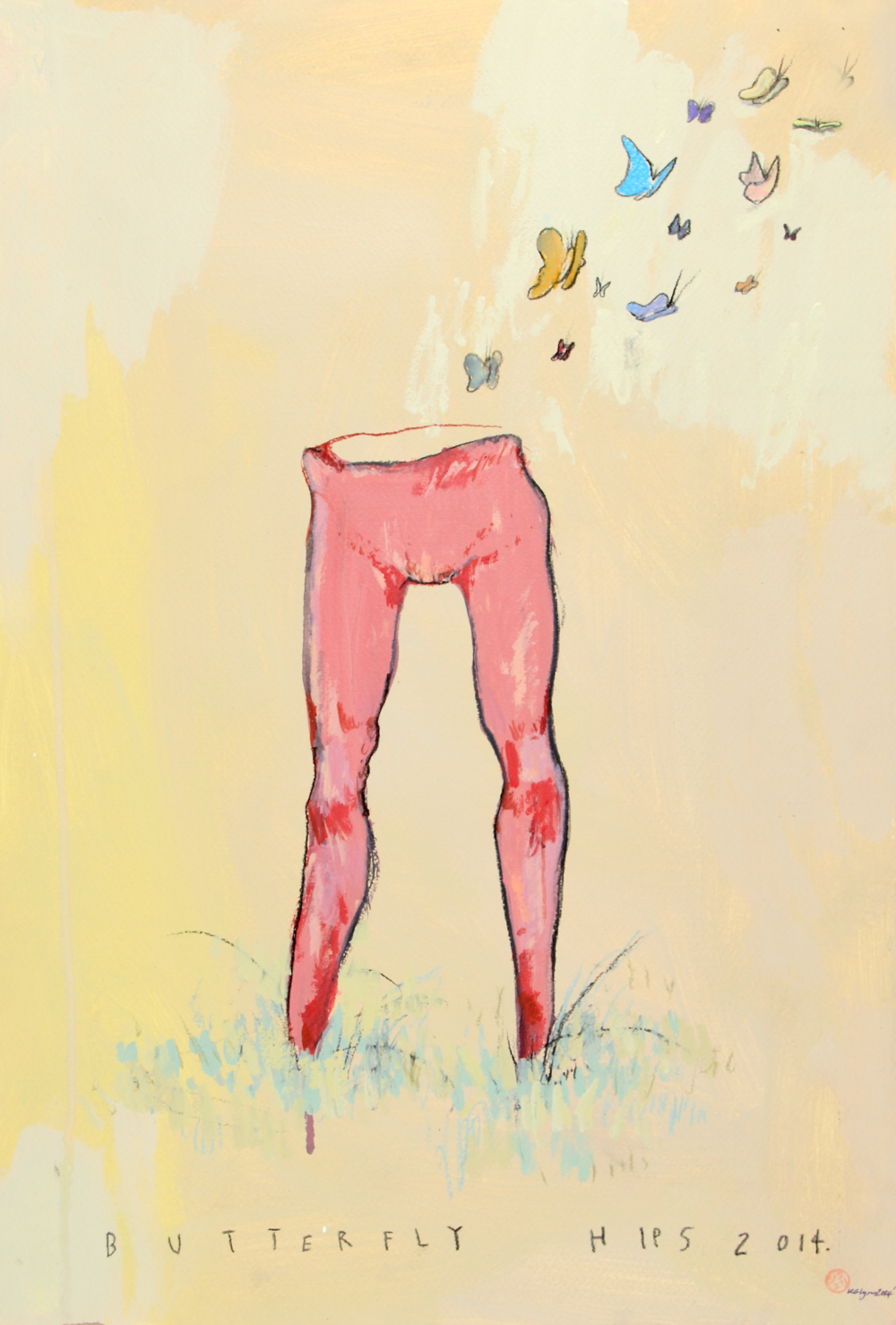 Butterfly Hips 2014, 2014   [private collection NY  , NY]  Acrylic on paper  15 x 22 in.