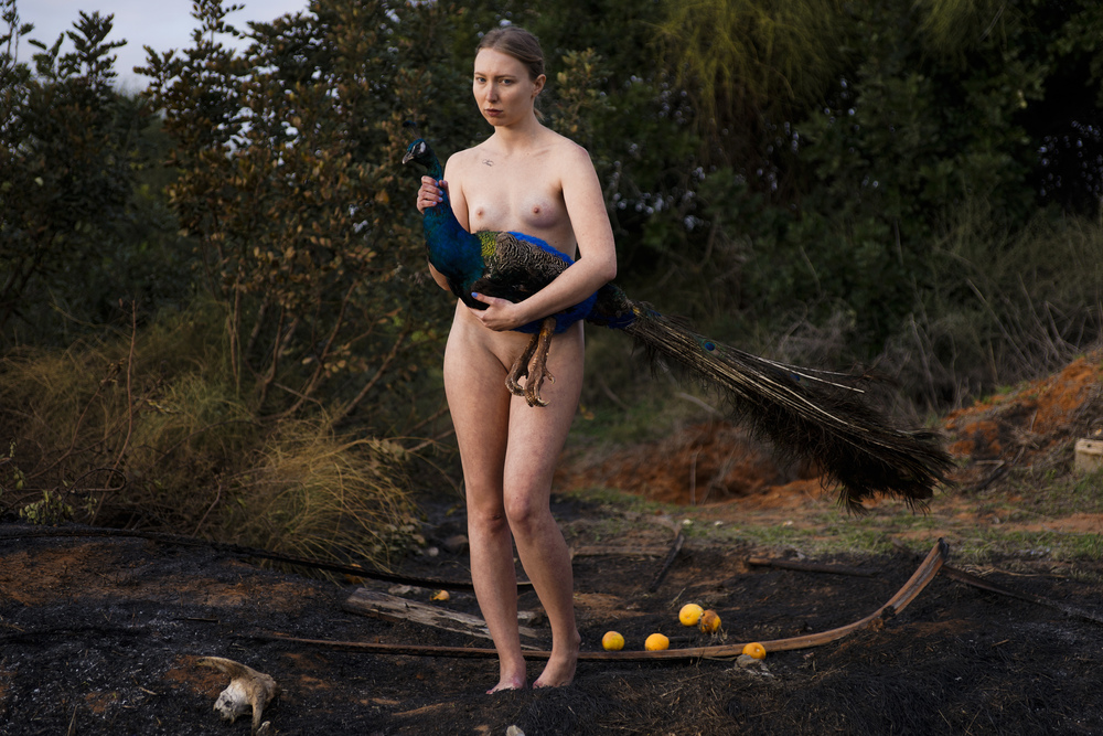 b2 Itamar Freed, A young Woman and a Peacock, 2013, Inkjet print on archival paper, 110x165 cm.jpg