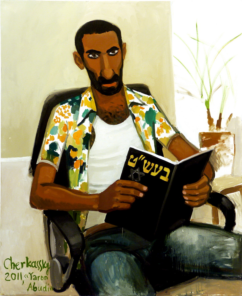 Zoya Cherkassky, Yaron Abudi, 2011, oil on canvas, 120x100 cm, $6,600.jpg
