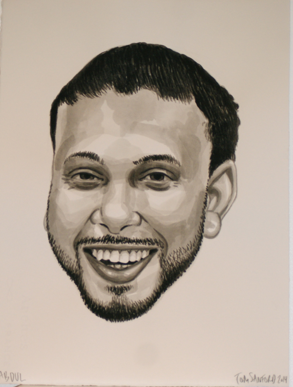 Abdul, 2014 [corporate collection NJ, USA] Ink on Paper 11 x 15 in.