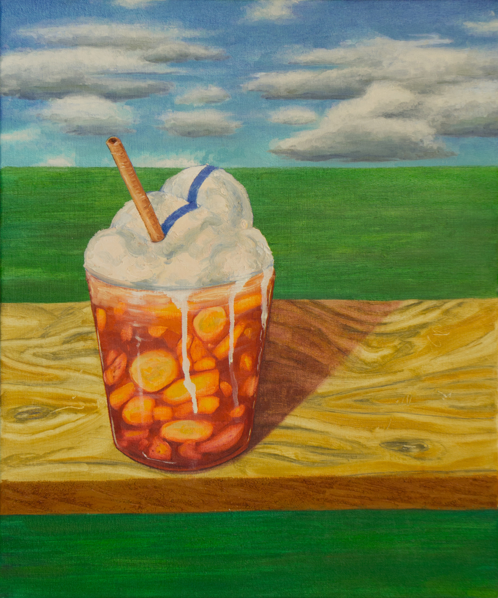 Salpicón con Ñapa , 2016  Oil on Canvas  24 x 20 in.