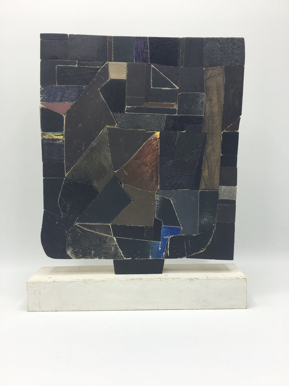 Black One,  2017   [private collection New York, NY]  Wood, Paint, Glue   10 x 8 x 2 in.