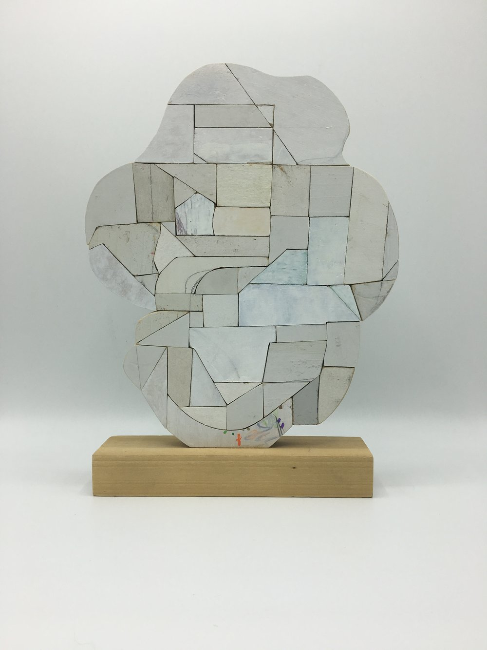 White One, 2017 [private collection Boston, MA] Wood, Paint, Glue 11 x 8 x 2 in.