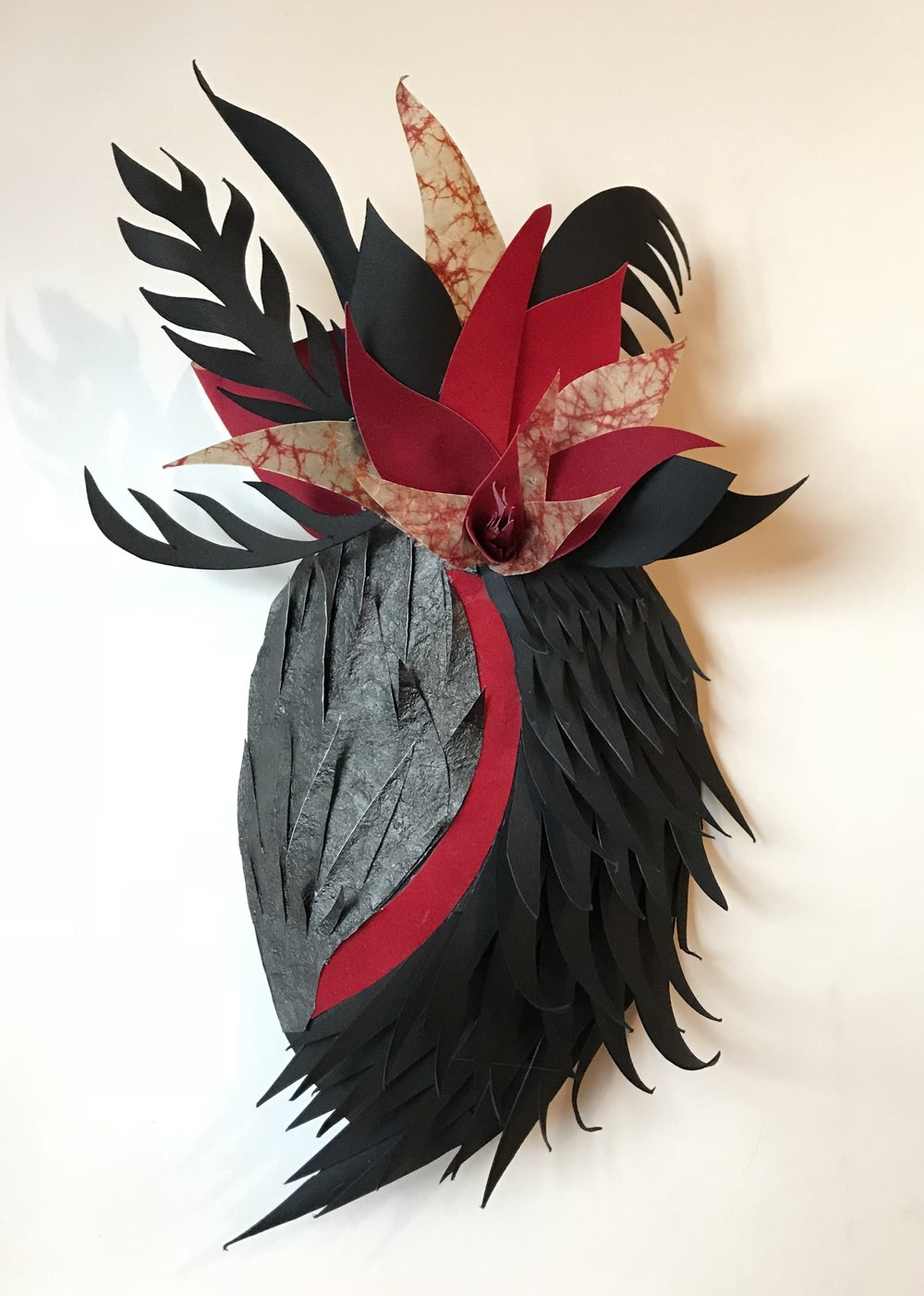 Black Swan | 2018 | Paper and glue | 11 x 7 x 4 ½ in.