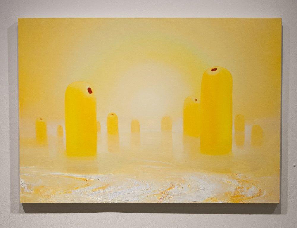Conor Fagan | Menhir | 2018 | oil on canvas | 31 x 44 in.